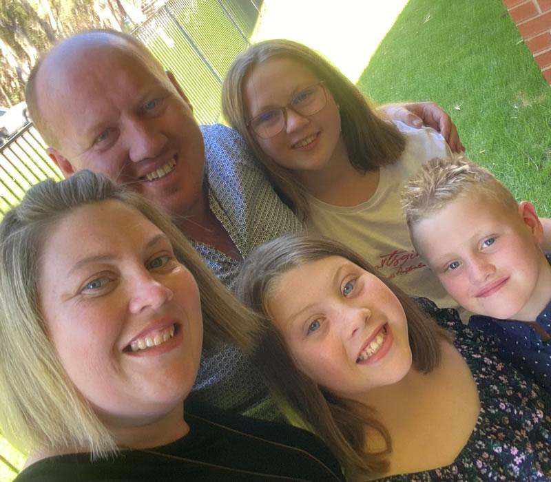 Sam and family