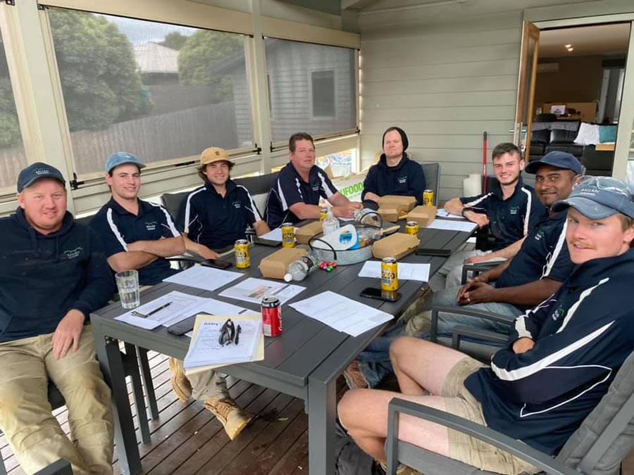Staff Meeting Ballan Builders